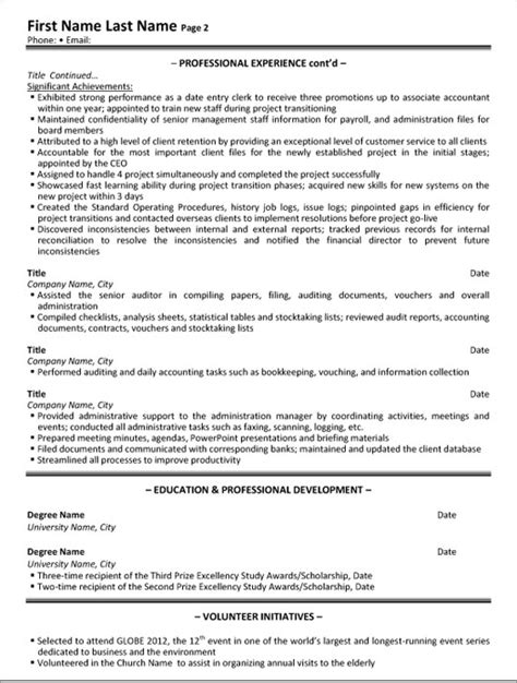 administrative assistant resume sle template