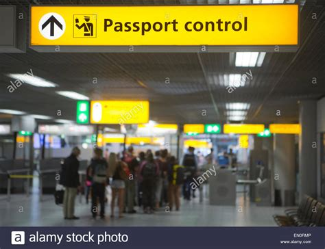 Schiphol Arrival by Passport Control At Schiphol Airport Stock Photo 81767862