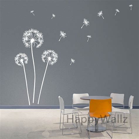 dandelion wall sticker modern dandelion wall decal vinyl
