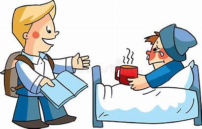 Visiting Clipart Boy Nursing Ill Visit Friend