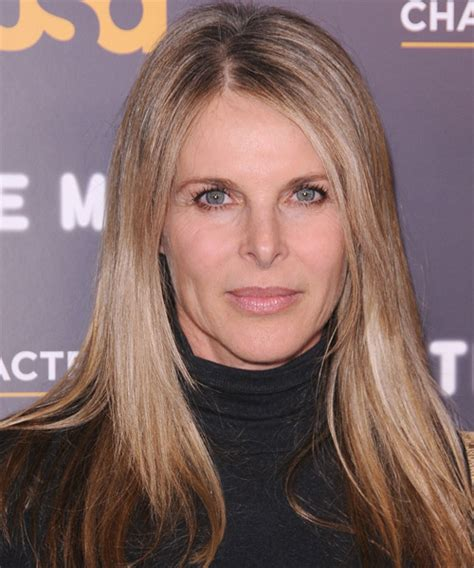 catherine oxenberg long straight casual hairstyle dark