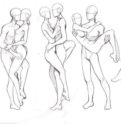 Poses hombre y mujer | couple | Pinterest | Dessin ...