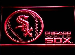 Chicago White Sox Neon Light White Sox Neon Sign Neon