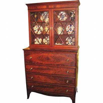 Secretary Antique Federal American Bookcase Mahogany 1800