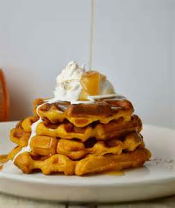 Waffles with Syrup and Butter