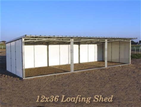 noble panels loafing sheds horse shelters