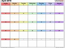 April 2018 Singapore Calendar Free Blank 2018 Calendar