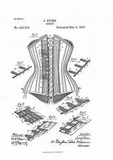 Coloring Colouring Corset Adult Patent Corsets Prints sketch template