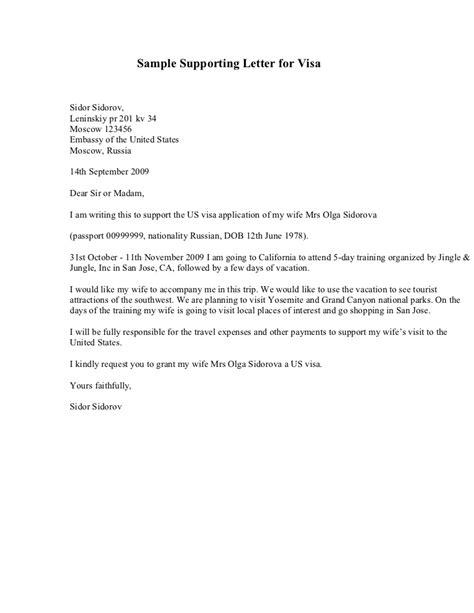 fiance visa cover letter exle visa support letter