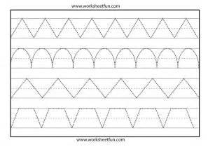 Preschool Tracing Lines Worksheets Printable
