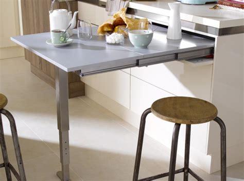 table de cuisine escamotable meuble cuisine avec table rabattable table basse table
