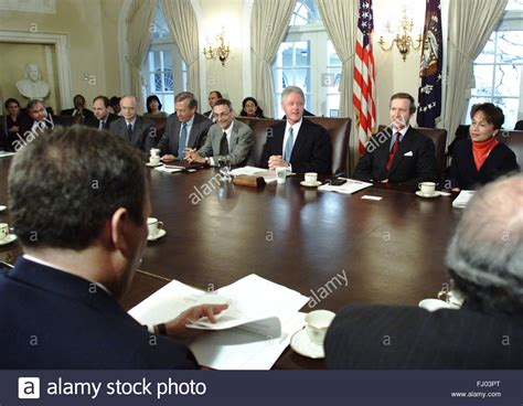 United States Cabinet by United States President Bill Clinton Makes Remarks During