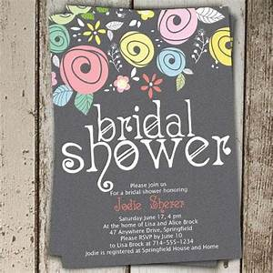 printable spring country floral bridal shower invitations With online wedding shower invitations
