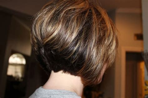 Inverted Bob Round Face , Super Stacked