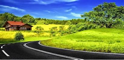 Jalan Pemandangan Indah Raya Yang Berbelok Stok