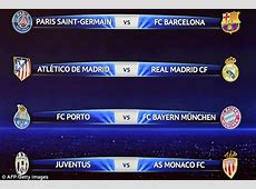 Champions League draw Real Madrid take on rivals Atletico