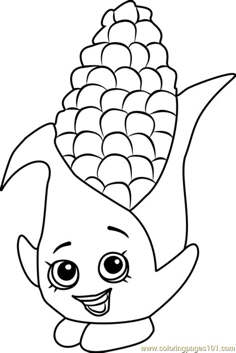 corny  shopkins coloring page  shopkins coloring