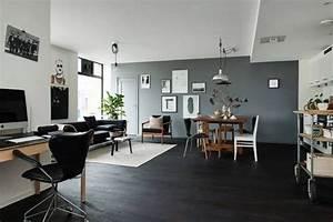 parquet noir le blog carresol tendance bois decoration With quelle couleur pour salon 0 quelle couleur pour apporter de la lumiare dans un salon