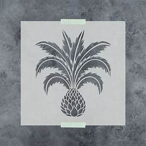 Palm, Tree, Stencil, Small, And, Large, Size, Palm, Tree, With, Leaves