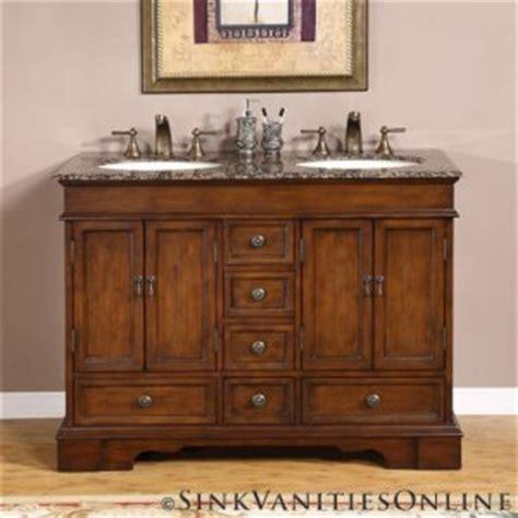 48 quot sedona small double sink bathroom vanity cabinet 0715