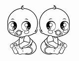 Coloring Twins Twin Printable Getcolorings sketch template