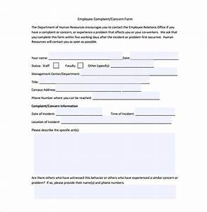 nice complaint form template pictures inspiration With free hr documents