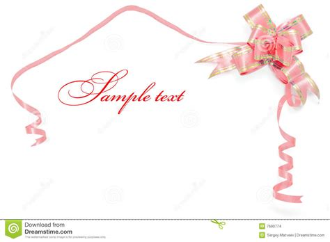 card border  red ribbon stock images image
