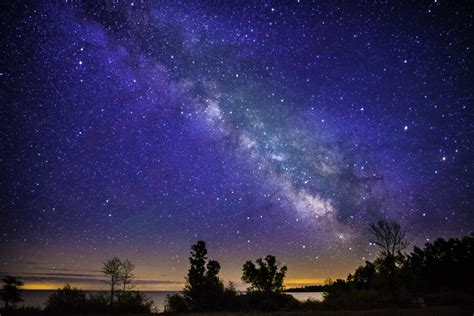 landscape  night   milky  image  stock