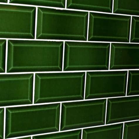 subway tile in kitchen green bevelled subway tile design tiles