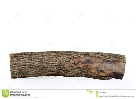 Stub Log With Wooden Texture Isolated Stock Image