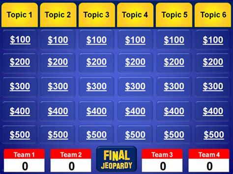 Powerpoint Jeopardy Template Jeopardy Powerpoint Template Classroom