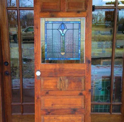 olde world door and glass custom wood interior