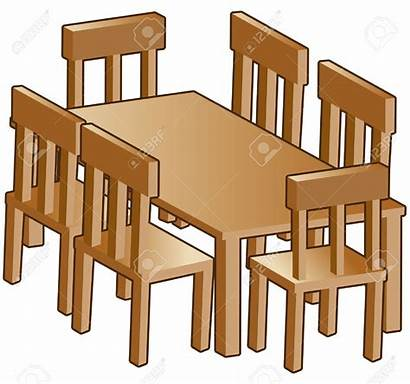 Dining Clipart Table Furniture Clip Dinner Simple