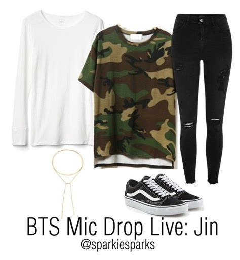 BTS Mic Drop Live Jin | Madewell BTS and River island