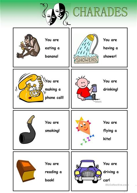 Cvc words large text flashcards set 1. Charades (-cards) - English ESL Worksheets for distance ...