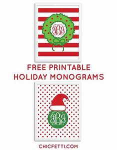 Monograms holiday and free printable on pinterest for Chicfetti monograms