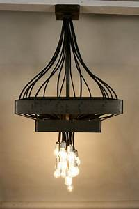 Industrial modern chandelier