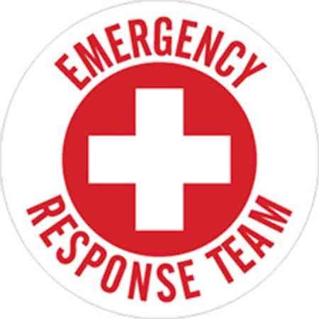 Hard Hat Emblems, English, Emergency Response Team, Vinyl