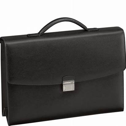 Montblanc Briefcase Leather Bag Business Gusset