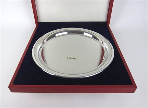 vintage cartier pewter tray  original fitted box  stdibs