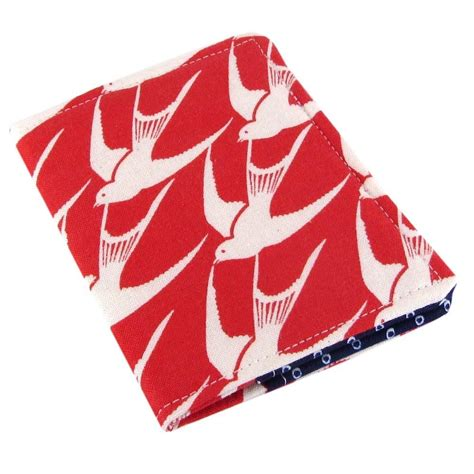 handmade fabric bird slim womens credit card wallet