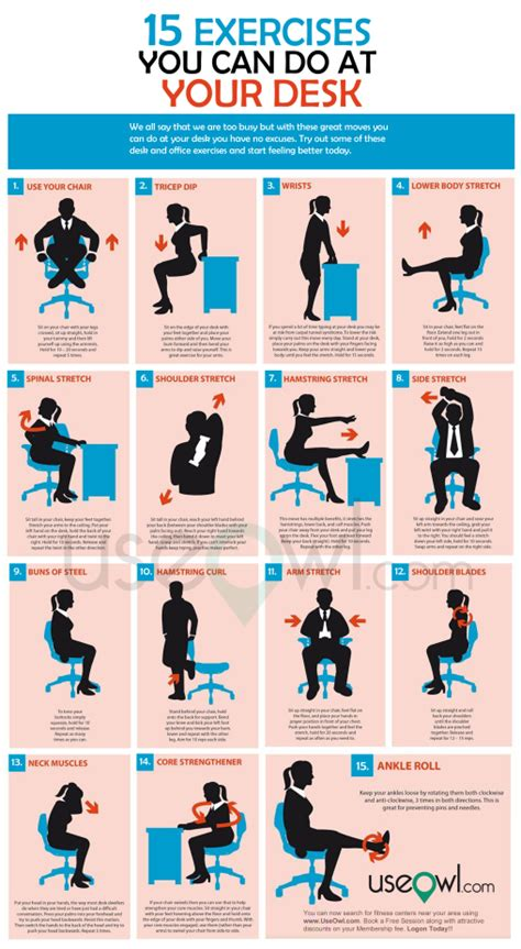 15 Exercises You Can Do At Desk In Office Useowl