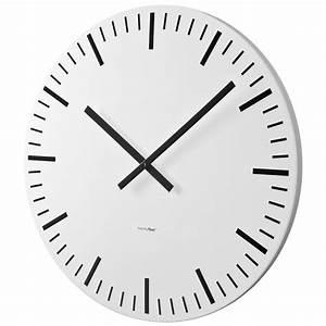 Horloge Murale Blanche : horloge murale white station blanche 80cm ~ Teatrodelosmanantiales.com Idées de Décoration
