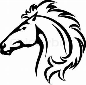Pferdekopf Schwarz Weiß : wildes pferd den kopf vektorgrafik colourbox ~ Watch28wear.com Haus und Dekorationen