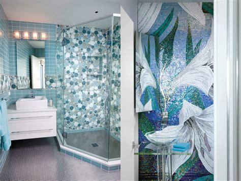 Badezimmer Fliesen Hellblau by Mosaik Fliesen Badezimmer Kreise Hellblau Blumen Modern