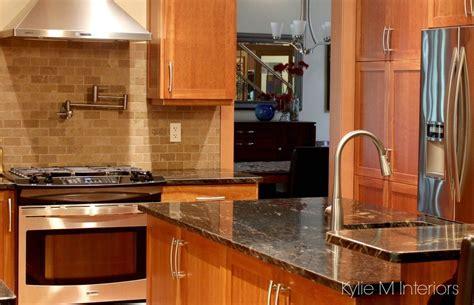 kitchen backsplash photos white cabinets cherry cabinets in kitchen with black granite