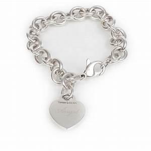 TIFFANY & CO Sterling Silver Heart Tag Charm Bracelet 24829