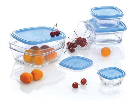 duralex lys square glass bowl set  lids  piece cutlery