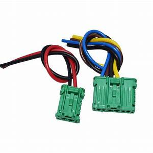 2pcs Heater Blower Fan Resistor Plug Wiring Harness For