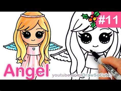 draw  angel cute anime step  step christmas